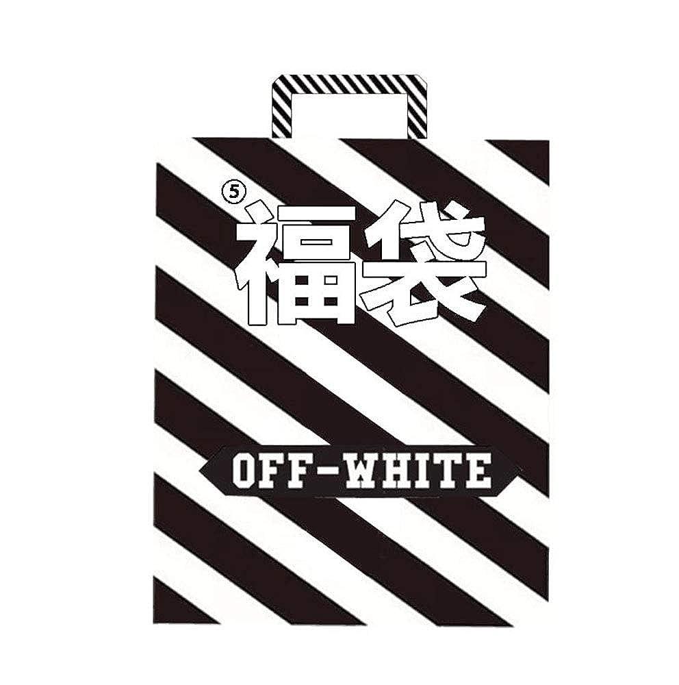 オフホワイ,OFF WHITE Pioneer 秋冬 メンズ 2点セット トップス 男女兼用 ファッション 福袋⑤ 2019 B07L6KTDC7 M