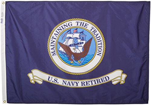 Annin Armed Forces Flag, US Navy Retired 3 by 4 Foot