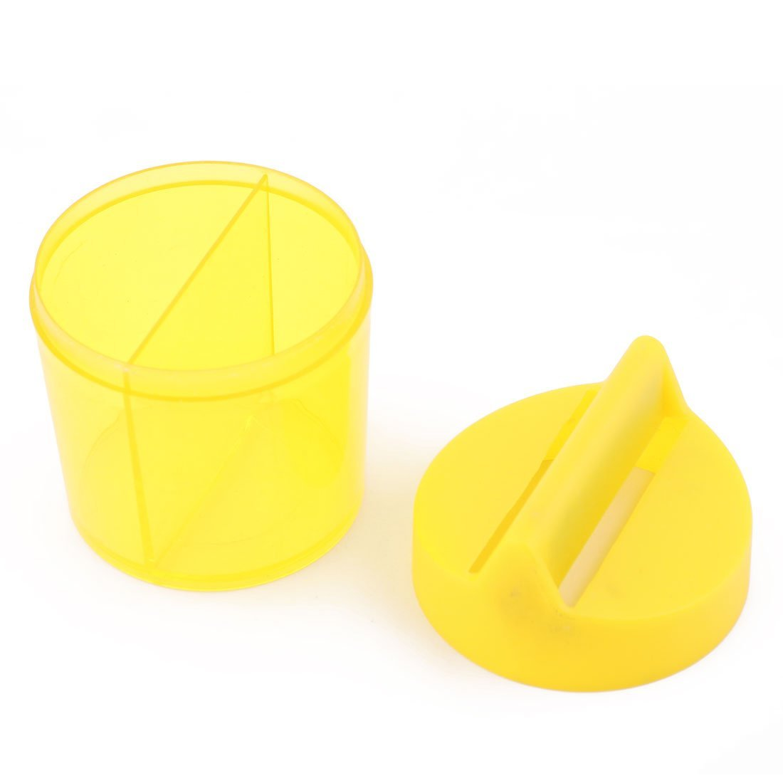 Amazon.com : DealMux Plastic Office Student forma redonda Paper Clip Dispenser Titular Box 2pcs Azul Amarelo : Office Products