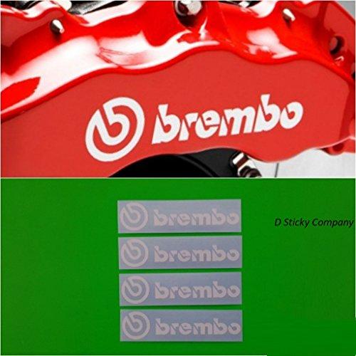 Brembo HIGH Temp Brake Caliper Sticker Set of 4 Decals - Set Decal White