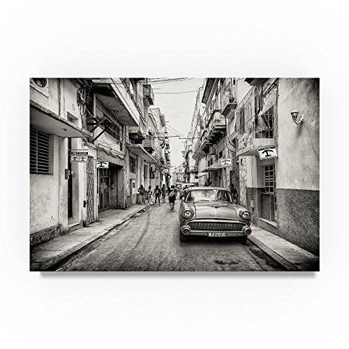 Old Havana Downtown Street by Philippe Hugonnard, 12x19-Inch Canvas Wall Art