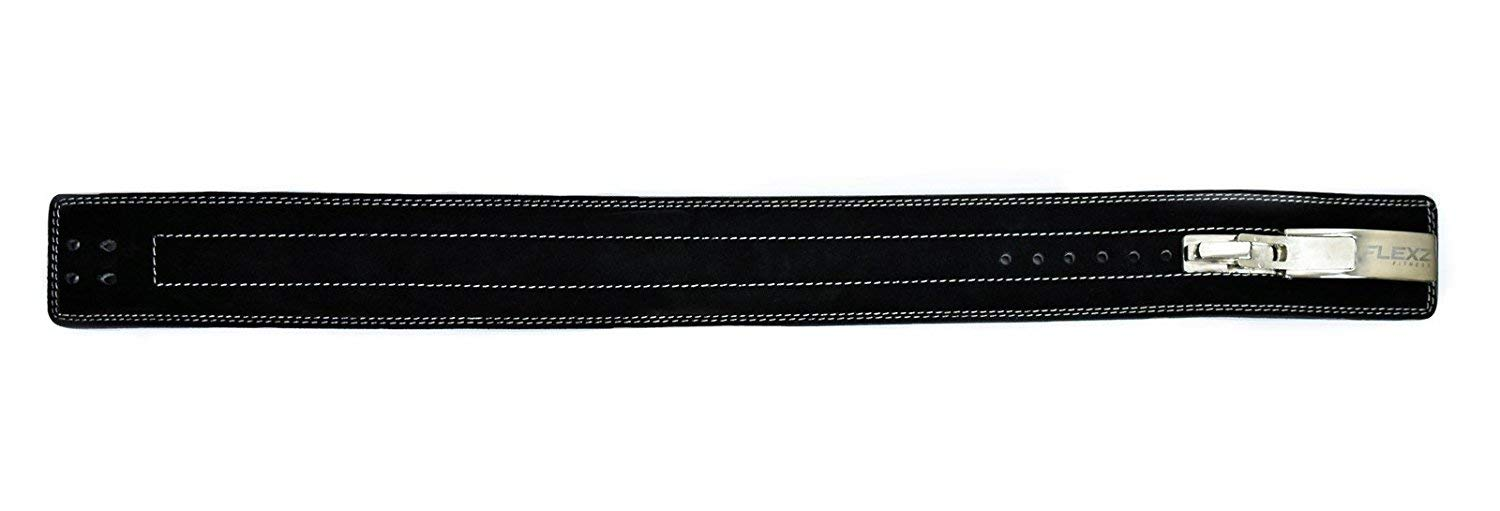 Flexz Fitness Lever Buckle Powerlifting Belt 10mm Weight Lifting Black Medium by Flexz Fitness (Image #9)