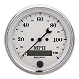 Auto Meter 1680 Old Tyme White Electric Programmable Speedometer