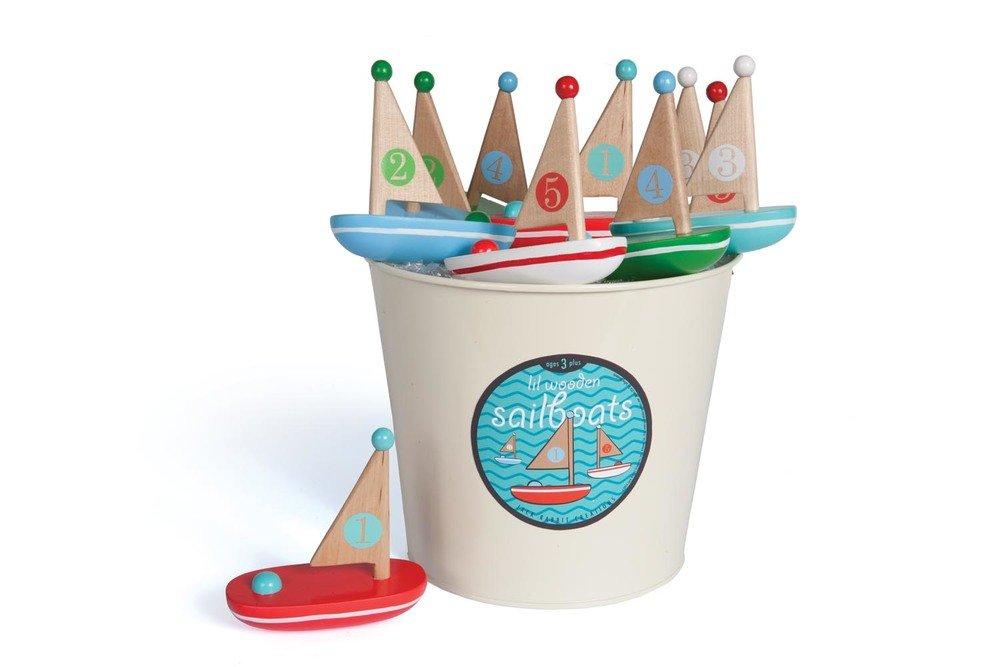 Jack Rabbit Creations Little Wooden Sailboats 1 EA