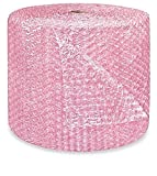 1/2'' supplyhut Pink Anti-static Large Bubble Cushioning Wrap Padding Roll Cushion 500' x 24'' Wide 500FT