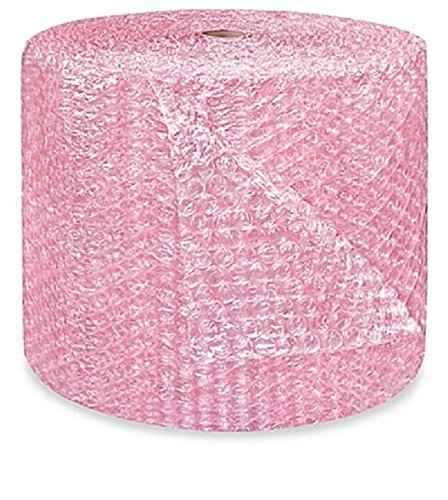 1/2'' supplyhut Pink Anti-static Large Bubble Cushioning Wrap Padding Roll Cushion 500' x 24'' Wide 500FT by supplyhut