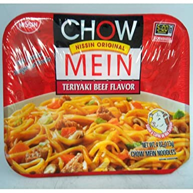 Amazon Com Nissin Chow Mein Noodles Teriyaki Beef Flavor 4 Oz Pack Of 24 Grocery Gourmet Food