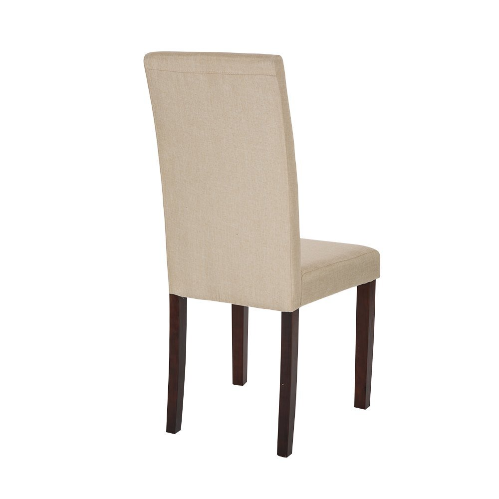 Glitzhome Padded Fabric Dining Chairs Beige, Set Of Two by Glitzhome (Image #2)