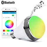 bluetooth speaker lightbulb - Autai LED Light Bulb with Smart Bluetooth Speaker and APP Control RGB Multi Color Changing Dimmable