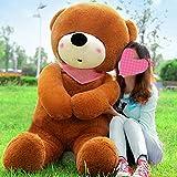 VERCART 63 inches Dark Brown 160CM Giant Huge Cuddly Stuffed Animals Plush Teddy