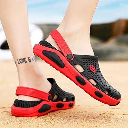 Eldori 夏 庭 靴メンズサンダル女性 靴ペダル穴 靴通気性 サンダルカジュアルビーチ 靴のフリップフロップ、スリッパサンダル カジュアル ユニセックス メンズ レディサンダル 水陸両用 通気性 快適 履き心地良い ウォーターシューズ