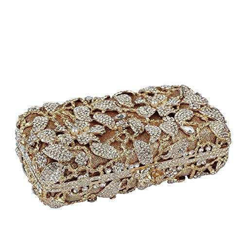 Flores La Alto Del De Grado De Cena Diamante La Perla De Con Bolso Señoras Estampado Y EZXqgw