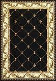 """KAS Oriental Rugs Corinthian Collection Fleur-De-Lis Area Rug, 7'7"""" x 10'10"""", Black"""
