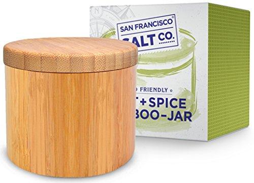 Bamboo Jar (Small 6oz salt jar), Salt Box