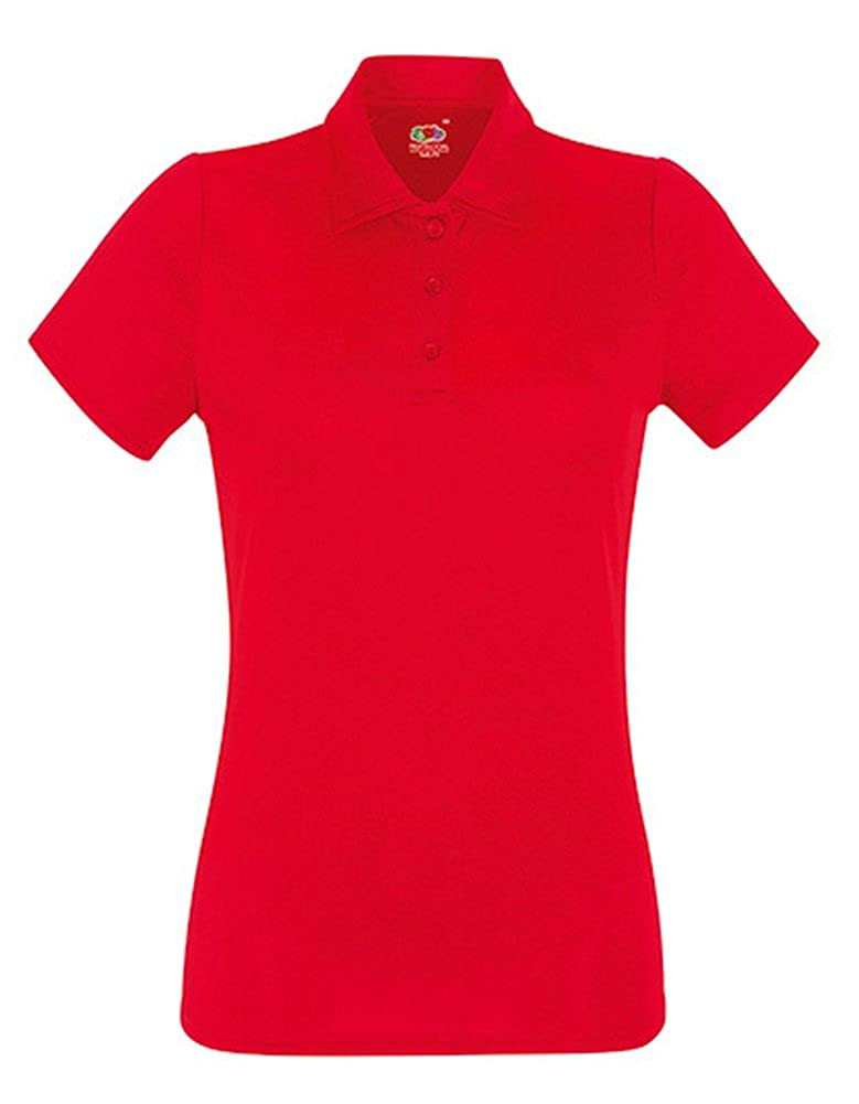 Fruit of the Loom Damen Poloshirt Performance Polo Lady-fit 051.01