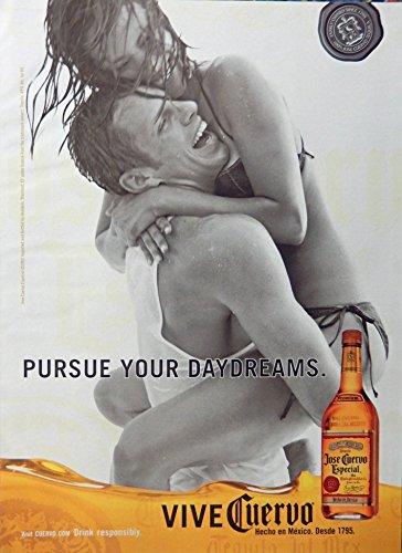 Jose Cuervo Especial Tequila, Print Ad. Full Page Color Illustration (pursue your daydreams) original Magazine - Tequila Especial Cuervo