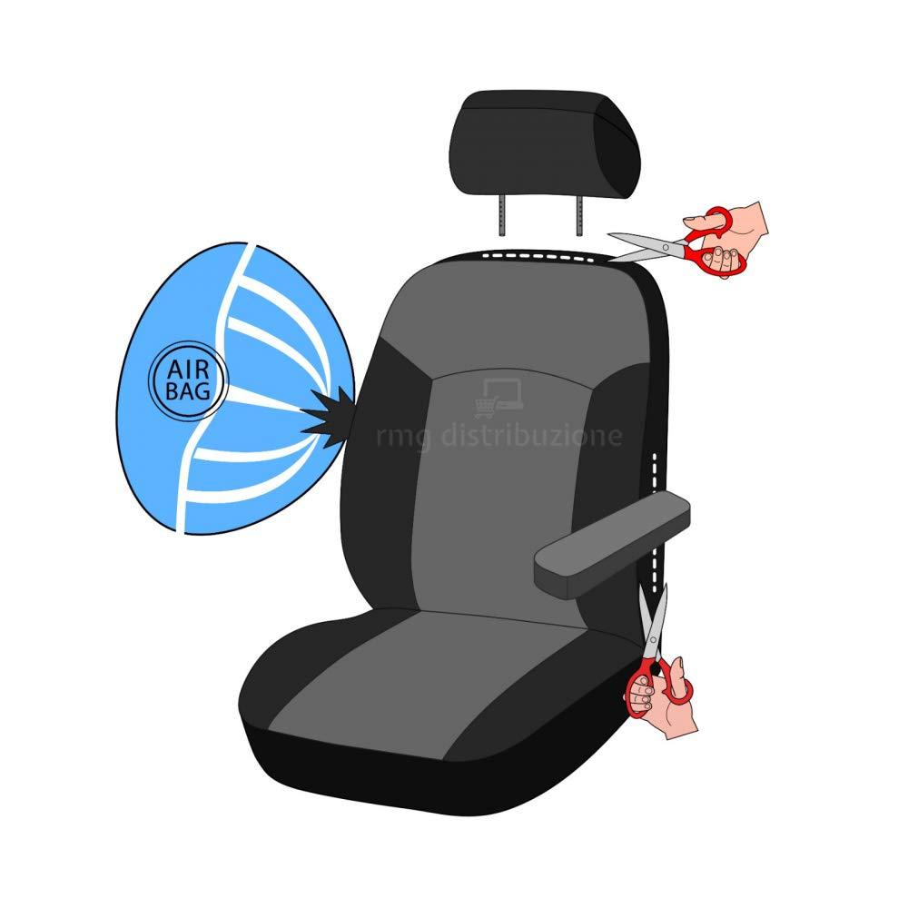 rmg-distribuzione Coprisedili per YPSILON Versione sedili Posteriori sdoppiabili R01S0396 2003 -/2011 bracciolo Laterale compatibili con sedili con airbag