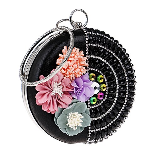 For Do D Flower Hkc Evening Dress Bag Totes Women And Evening Banquet Women Women color European Flowers Decorative aTq6rPTwE