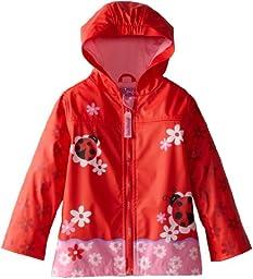 Stephen Joseph Little Girls\' Toddler Rain Coat, Ladybug, 4T