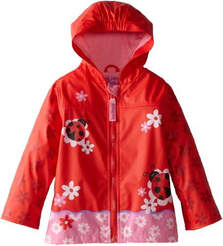 Stephen Joseph Girls Little Rain Coat, Ladybug 6/6X