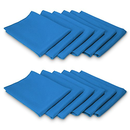 TableLinensforLess Cloth Napkin-Table Ready (12, Cobalt) (Cobalt Blue Napkins)