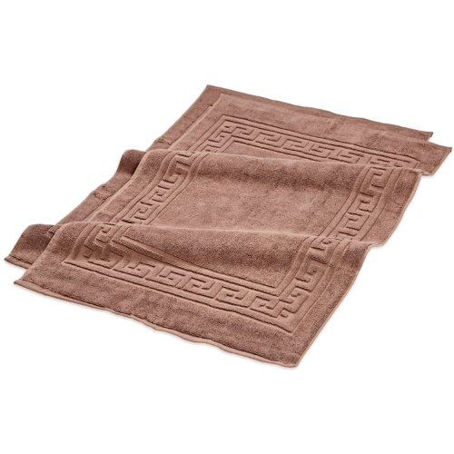 Superior Hotel & Spa Quality Bath Mat Set of 2, Made of 100% Premium Long-Staple Combed Cotton, Durable and Washable Bathroom Mat 2-Pack - Mocha, 22