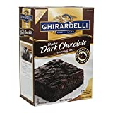 Ghirardelli Double Dark Chocolate Brownie Mix, 7lb, Pack of 4