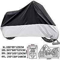 Funda Cubierta Motocicleta Motos Impermeable - Protección contra el Polvo, UV, Escombros (XL)