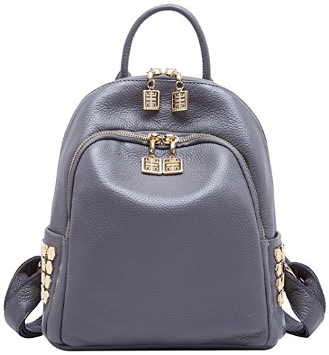 BOYATU Genuine Leather Backpack for Women Designer Mini Backpack Purse Stylish ()