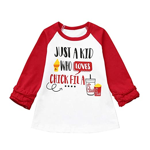 86b9c1495089 Baby Toddler Boys Girls Christmas Clothes Long Sleeve Tops 1-4 Years Old  Kids Letter