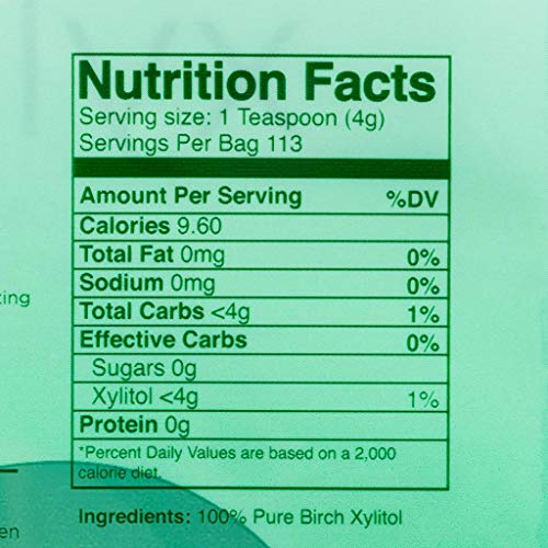 Morning Pep Pure Birch Xylitol (Keto Diet Friendly) Sweetener 1 LB (Not From Corn) NON GMO - KOSHER - GLUTEN FREE - PRODUCT OF USA. 16 OZ by Morning Pep (Image #2)