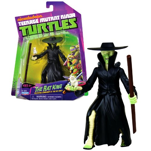 Playmates Year 2013 Nickelodeon Teenage Mutant Ninja Turtles 5 Inch Tall Action Figure - Telepathic Commander of the Rat Army THE RAT KING with Staff and White Rat -