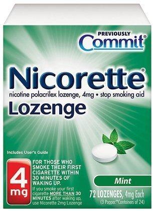 - Nicorette Lozenge, Mint , 4mg, 72-Count by Commit BEAUTY