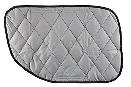 4Knines Dog Car Door Cover for Cars, Trucks and SUVs - USA Based Company - Two Door Guards (One for Each Side) (Grey)