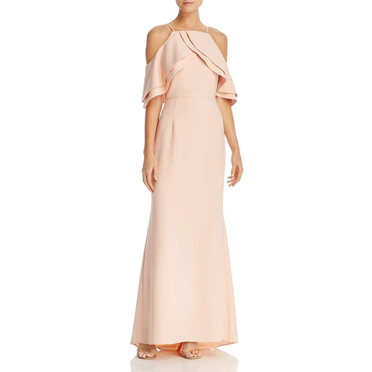 Eliza J Womens Off The Shoulder Ruffled Gown Dress