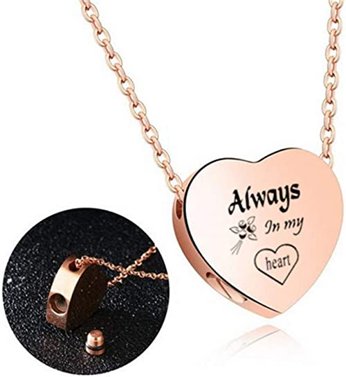 Stainless Steel Customized Heart Cremation Urn Necklace Keepsake Lockets Memorial Pendant for Human Pets Ash,Free Engraving NineJewelry I Love You to The Moon and Back Necklace for Men Women