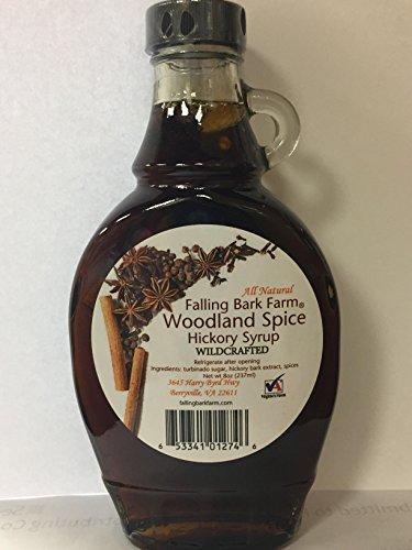 Falling Bark Farm Woodland Spice Hickory Syrup - All Natural from the Shagbark Hickory Tree (Shagbark Syrup)
