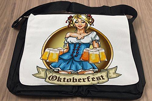 Borsa Tracolla Giramondo Birra Stein Oktoberfest Stampato