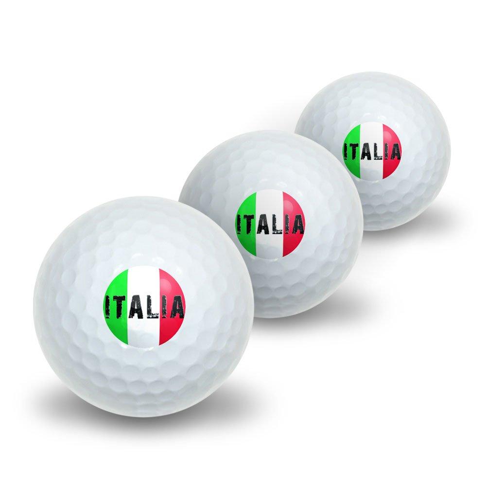 Italia - Italy Italian Flag Novelty Golf Balls 3 Pack