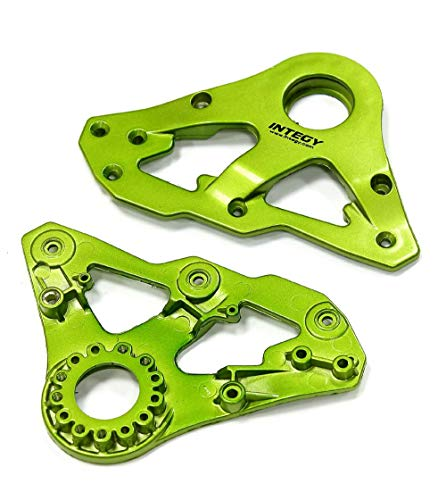 Integy RC Model Hop-ups C24940GREEN Replacement Left Side Plastic Main Frame for Snowmobile & Sandmobile Conversion