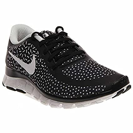 Nike Free 5.0 V4 (BlackWhiteWhite) Womens Shoes (Black