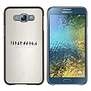 Caucho caso de Shell duro de la cubierta de accesorios de protección BY RAYDREAMMM - Samsung Galaxy E7 E700 - Ministerio de Silly Walks