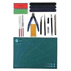 HOMYL 15x Collectible Modeler Model Basic Tool Files Cutter for 1/144 1/100 Gundam