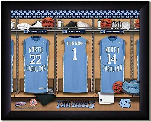 North Carolina Tar Heels Basketball Team Locker Room Personalized Jersey Officially Licensed NCAA Sports Photo 11 x 14 Print