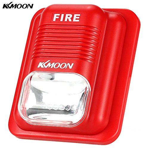 KKmoon Alarma Sirena de Fuego Protección contra Incendios Alerta Sonido Estroboscópica Sistema Seguridad para Hogar Oficina Hotel Restaurante