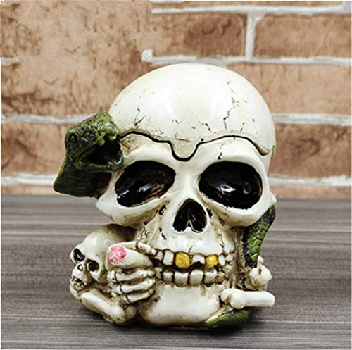 Make life wonderful Creative Funny Variety of Shapes Skull Ashtrays Halloween Scene Costume Party Home Office Decor Gift (Style 4) -