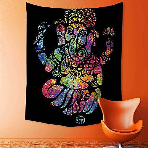 adshdjfbdjh2 Tapestry Mystic House Decor,Religion Lord Sitting in The Lotus Position Trance Zen Ethnic Culture Print Multi Bedroom Living Room Dorm Wall Hanging Tapestry 130x150 cm ()