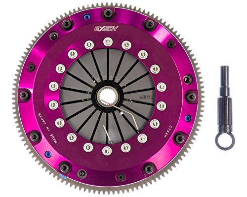 Exedy Twin Plate Carbon (EXEDY NT01HDMC Carbon-D Clutch Kit Twin Carbon Sprung Center Disc 225mm Push Type 24 Tooth/25.6mm Spline Wheel Torque Rating 516 ft./lbs. 3035 lbs. Clamp Load Carbon-D Clutch Kit)