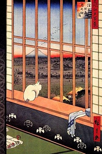 Utagawa Hiroshige Asakusa Ricefields and Torinomachi Festival Art Poster 24x36 inch