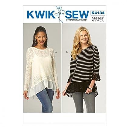 Amazon Kwik Sew Ladies Easy Sewing Pattern 4134 Stretch Knit